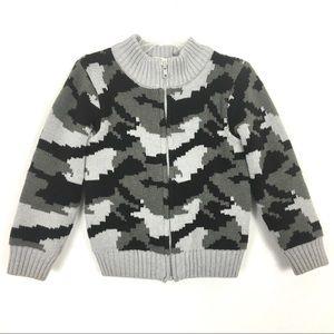 Boys camo zip up sweater/jacket  3T
